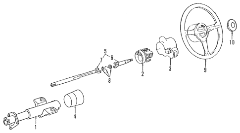 Steering Column Assembly for 1986 Chevrolet Camaro