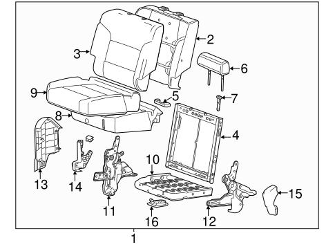 OEM 2015 GMC Sierra 2500 HD Rear Seat Components Parts