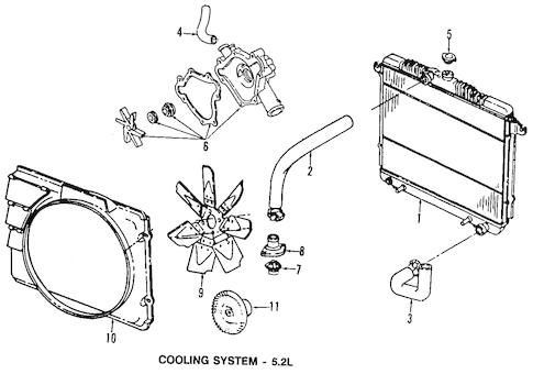 RADIATOR & COMPONENTS for 1998 Dodge Dakota