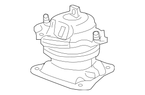 Honda Rubber Assembly, Rear Engine Mounting (50810-T2G-A01