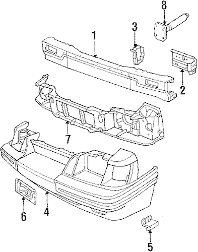 BUMPER ASSEMBLY for 1985 Ford Mustang