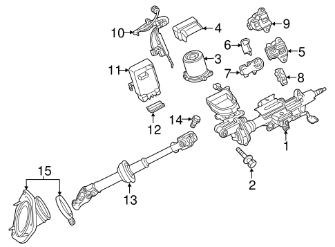 Genuine OEM Steering Column Assembly Parts for 2016 Toyota