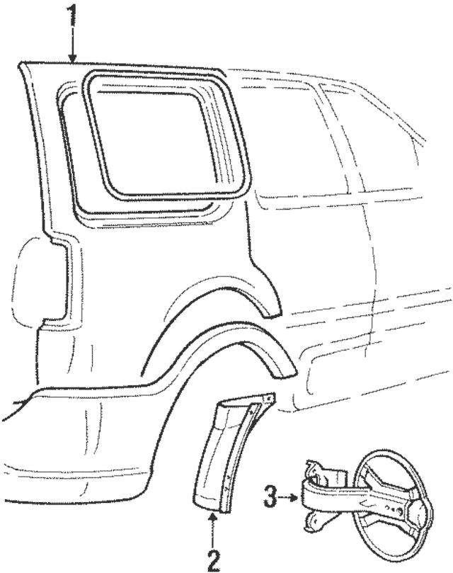 Genuine OEM 2002-2006 Lincoln Navigator Splash Shield 4L7Z