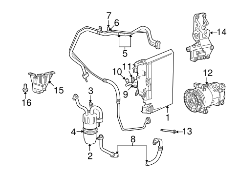 Condenser, Compressor & Lines for 2007 Dodge Caliber Parts