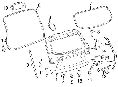Genuine OEM Liftgate Parts for 2014 Toyota Highlander XLE