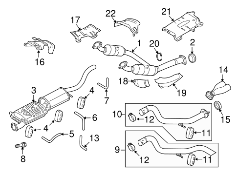 Exhaust Components for 2010 Ford Explorer Sport Trac