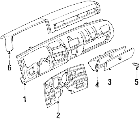 INSTRUMENT PANEL for 1989 Chevrolet C1500 (Silverado