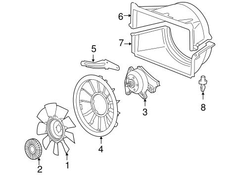 OEM 2006 Chevrolet Silverado 2500 HD Cooling Fan Parts