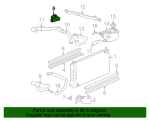 Upper Hose  Ford (1F1Z8A521BB)   Group 1 Auto Parts