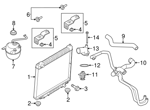 Radiator & Components for 2013 Ford E-350 Super Duty