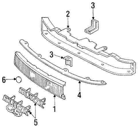 OEM 1991 Buick Regal Grille & Components Parts