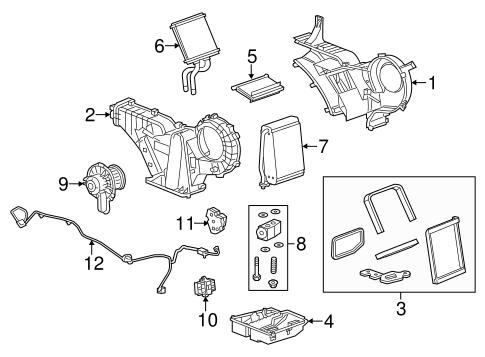 OEM 2015 Chevrolet Suburban Auxiliary AC & Heater Unit