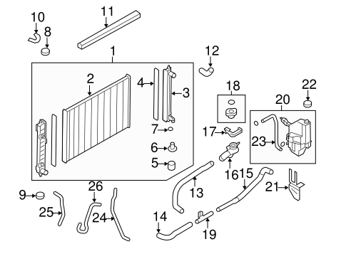 RADIATOR & COMPONENTS for 2009 Nissan Murano