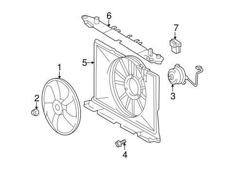 Genuine OEM Cooling Fan Parts for 2009 Toyota Matrix Base