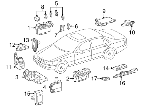 Fuel System Components for 2002 Mercedes-Benz S500