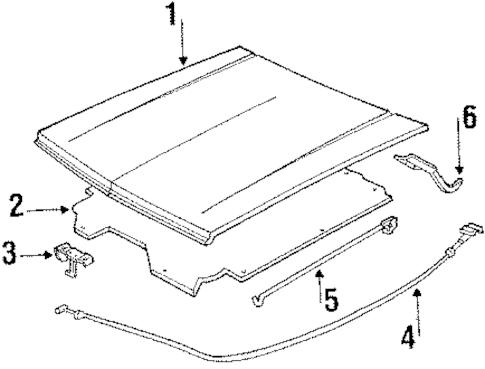 OEM 1989 Chevrolet S10 Blazer Hood & Components Parts