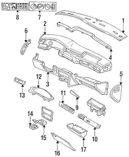 Service manual [1996 Chrysler Concorde Centre Trim Panel