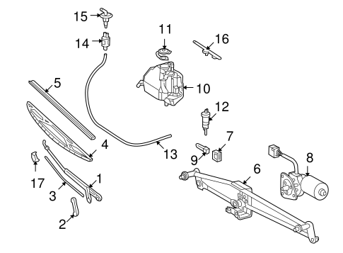 Wiper & Washer Components for 2005 Dodge Sprinter 2500