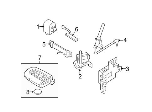 Keyless Entry Components for 2012 Hyundai Sonata