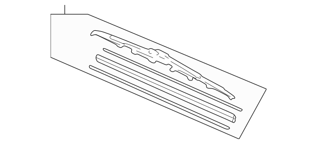 Acura Blade, Windshield Wiper (525MM) 76630-S3V-A11