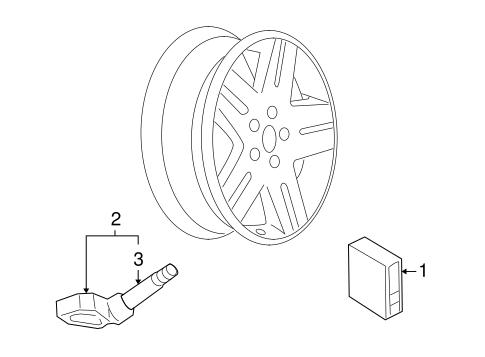 OEM 2009 Pontiac G3 Tire Pressure Monitor Components Parts
