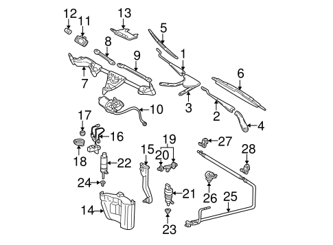 Wiper & Washer Components for 2001 Mercedes-Benz C 240