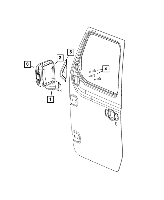 2018-2020 Jeep Outside Rear-View Mirror, Right 68281890AE