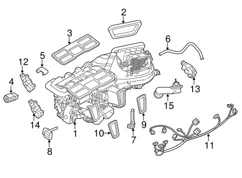 Evaporator & Heater Components for 2011 Porsche Panamera