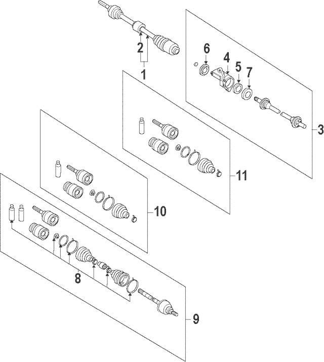 2007-2015 Mazda CX-9 Intermediate Shaft GA53-25-700
