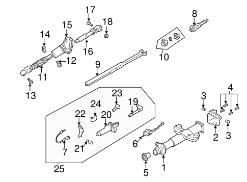 OEM LOWER COMPONENTS for 2004 Chevrolet Suburban 1500