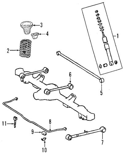Genuine OEM REAR SUSPENSION Parts for 2011 Toyota Sequoia