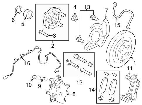 OEM 2013 Lincoln MKX Anti-Lock Brakes Parts
