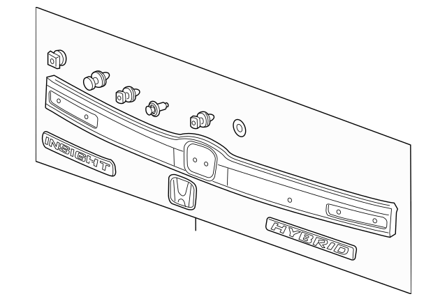 2012-2014 Honda INSIGHT Garnish Assembly, Rear License