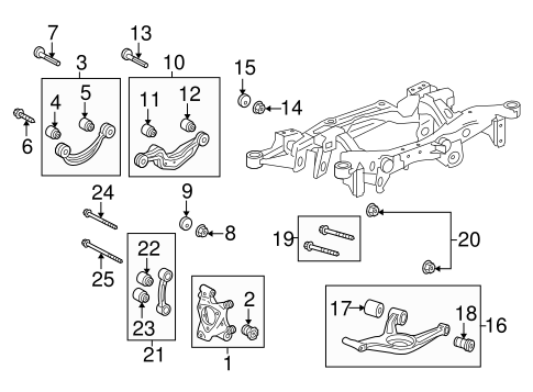 REAR SUSPENSION Parts for 2014 Cadillac XTS