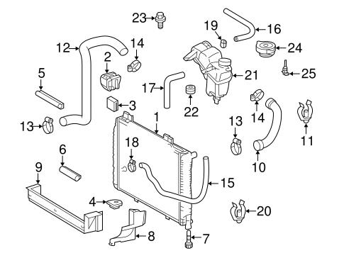 Radiator & Components for 2000 Mercedes-Benz SLK 230