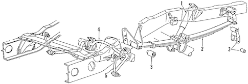 REAR SUSPENSION for 1997 Ford Explorer