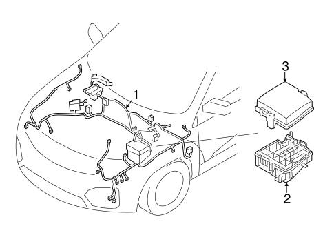 Wiring Harness OEM Parts for 2014 Kia Sorento