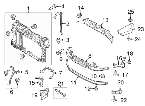 RADIATOR SUPPORT for 2014 Ford Fiesta