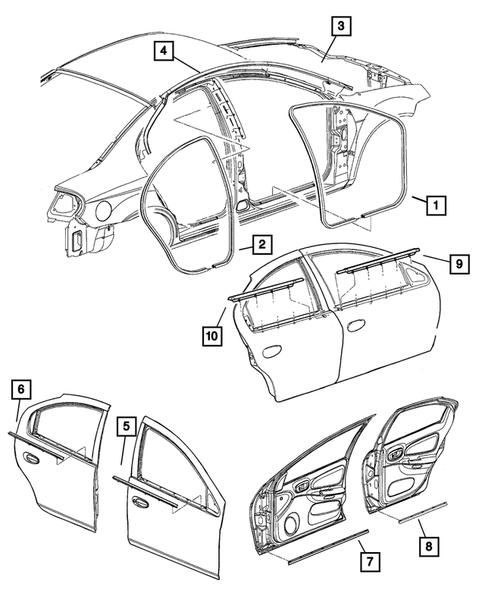 2004 Dodge Neon Rear Suspension Diagram : Frame Front 2004