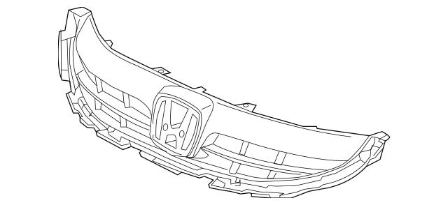 Genuine 2013-2015 Honda CIVIC HYBRID SEDAN Base, Front