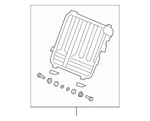 Genuine 2007-2008 Honda FIT 5-DOOR Frame, L Rear Seat-Back