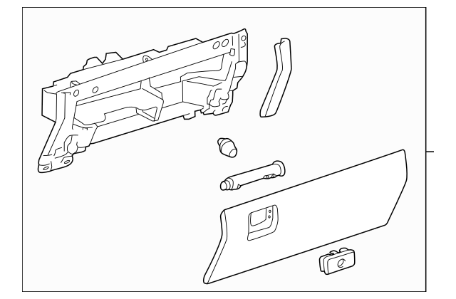 OEM Glove Box Assembly for 2016 Toyota Tundra|55320-0C030
