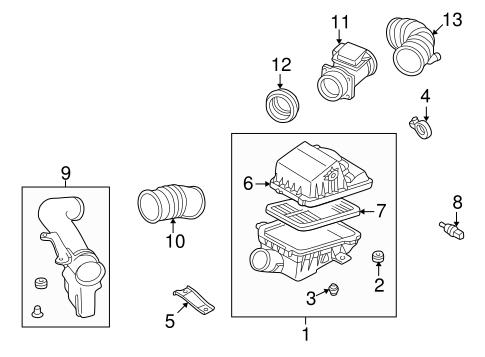 Genuine OEM Air Intake Parts For 1999 Mazda 626 LX