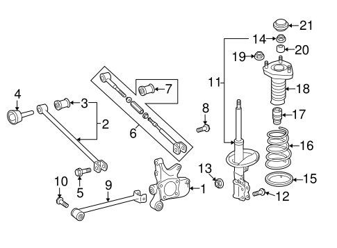 Genuine OEM Rear Suspension Parts for 2012 Toyota