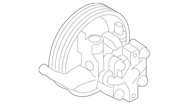 2011-2013 Kia Sorento Power Steering Pump 57100-1U000
