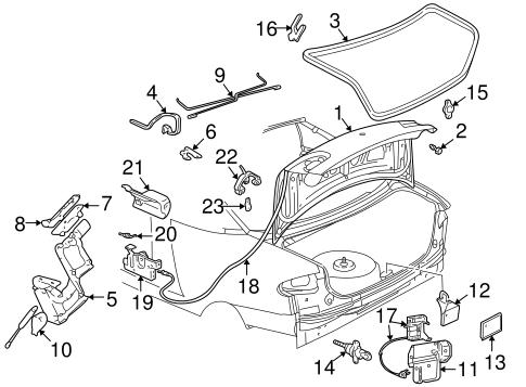 OEM 1998 Pontiac Sunfire Lid & Components Parts