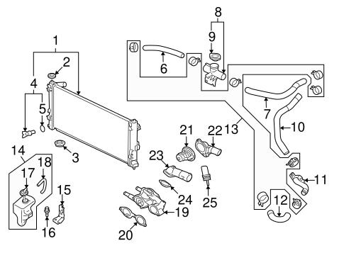 Radiator & Components for 2009 Mitsubishi Lancer Ralliart