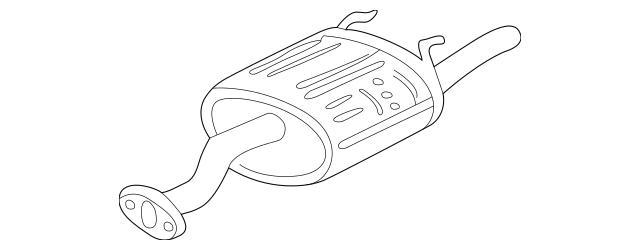Genuine 1996-2000 Honda Muffler Set, Ex 18030s01c21