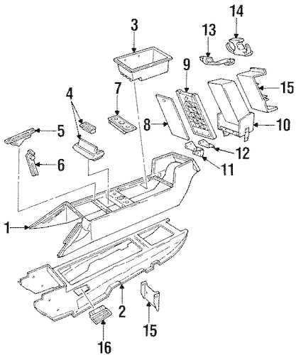 Buy OEM Compartment for 1993 Cadillac Allante at