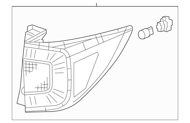 Genuine OEM 2019-2020 Honda PASSPORT 5-DOOR Taillight